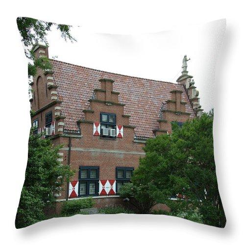 Dutch Throw Pillow featuring the photograph Dutch Building - Henlopen by Christiane Schulze Art And Photography