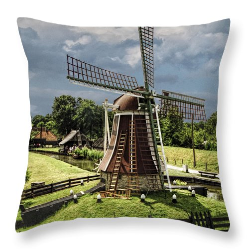 Art Throw Pillow featuring the photograph Dutch Windmill Near The Zuider Zee by Randall Nyhof