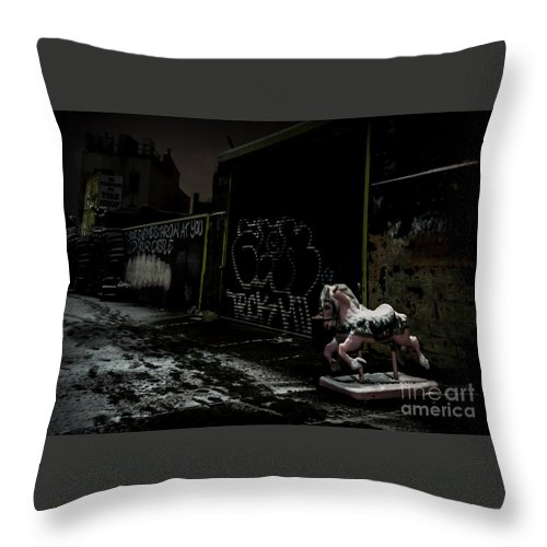 Dystopia Throw Pillow featuring the photograph Dystopian Playground 1 by James Aiken