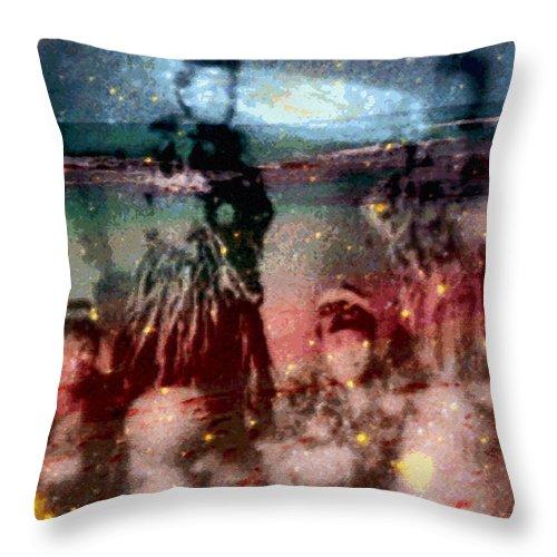 Tropical Interior Design Throw Pillow featuring the photograph E Ola Ana No by Kenneth Grzesik