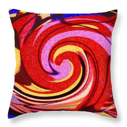 Eagle Throw Pillow featuring the digital art Eagle And Bear by Ian MacDonald