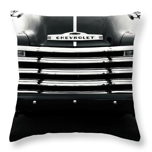 Advance Design Throw Pillow featuring the photograph Early 1950s Chevy Work Truck by Jon Woodhams