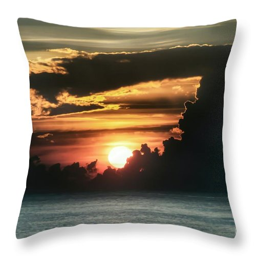 Sunrise Throw Pillow featuring the photograph Early Morning Orb by Glenn Forman