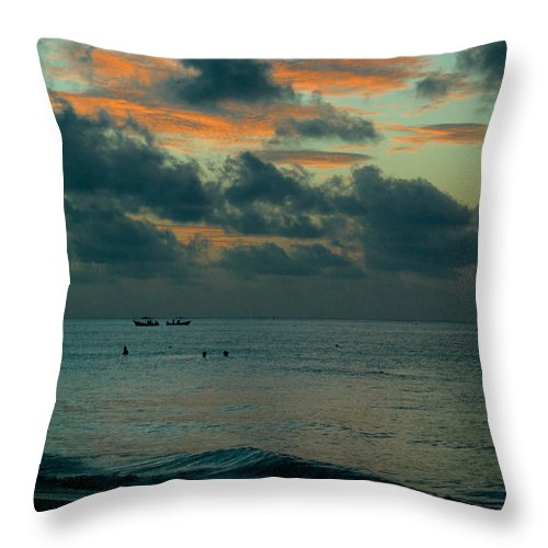 Sea Throw Pillow featuring the photograph Early Morning Sea by Douglas Barnett