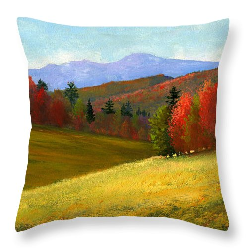 Landscape Throw Pillow featuring the painting Early October by Frank Wilson