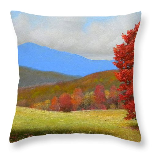 Autumn Throw Pillow featuring the painting Early September by Frank Wilson