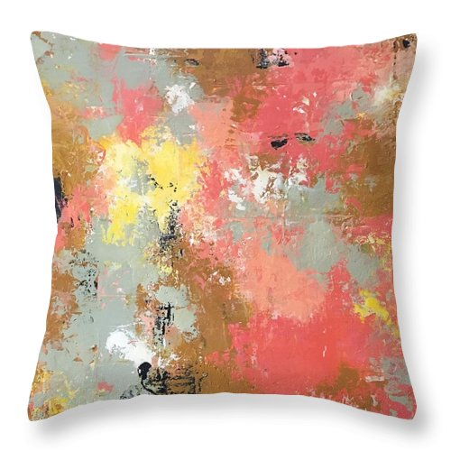 Throw Pillow featuring the painting Early Spring by Suzzanna Frank