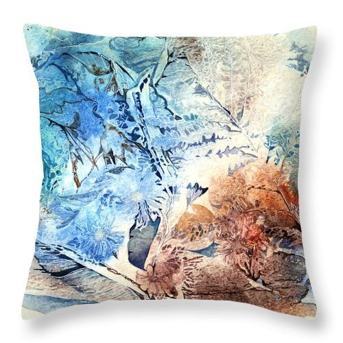 Art Throw Pillow featuring the painting Earth And Ice by Patricia Allingham Carlson