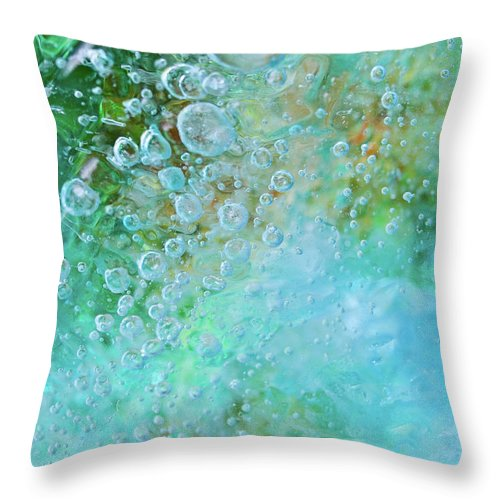 Abstract Throw Pillow featuring the photograph Earth Bubble by Shannon Workman