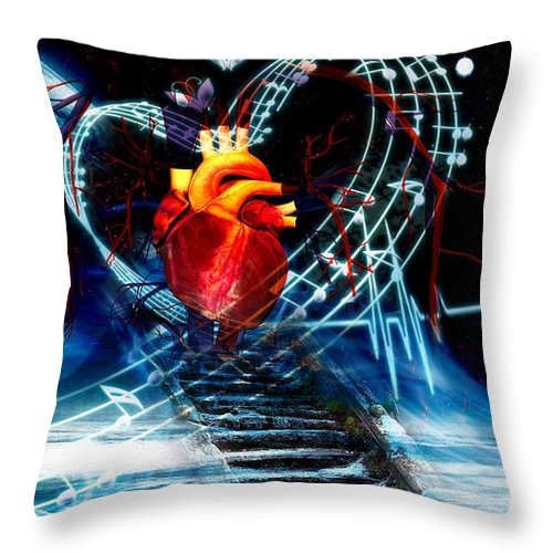 Earth Throw Pillow featuring the digital art Earth Heart by LDS Dya