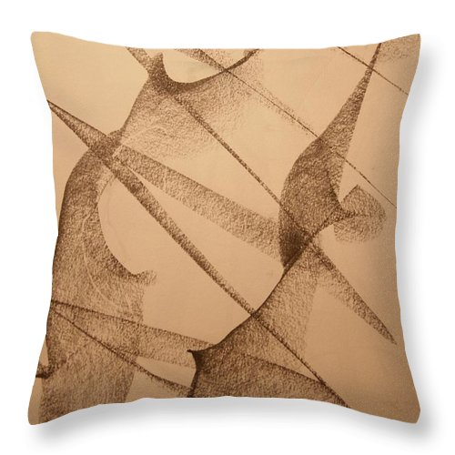 Abstract Throw Pillow featuring the drawing Earth Quake by David Barnicoat