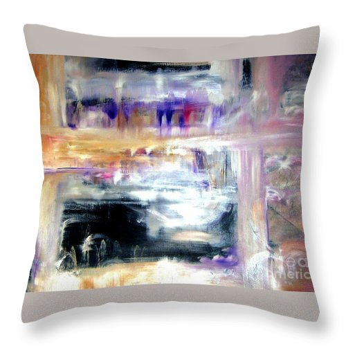 Glow Throw Pillow featuring the painting Earthen Vessel by Sandy Ryan