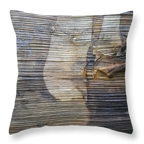 Eartquake At Japan Throw Pillow featuring the mixed media Earthquake Distortion  by Basant Soni