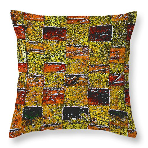 Weaving Throw Pillow featuring the painting Earths Tapestry by Wayne Potrafka