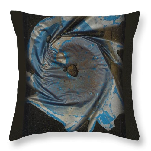 Space Throw Pillow featuring the painting Earth...the Final Spin by Rick Silas
