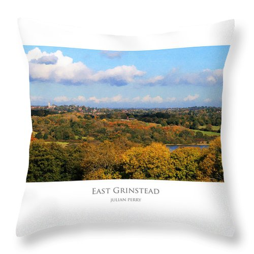 East Grinstead Throw Pillow featuring the digital art East Grinstead by Julian Perry