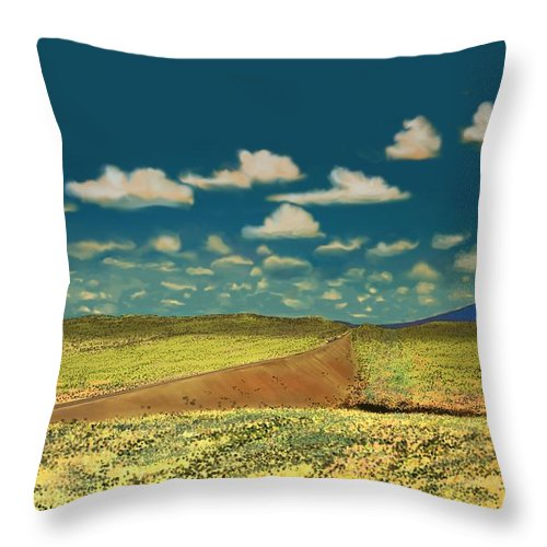 Flagstaff Throw Pillow featuring the digital art East Of Flagstaff Arizona by Kerry Beverly