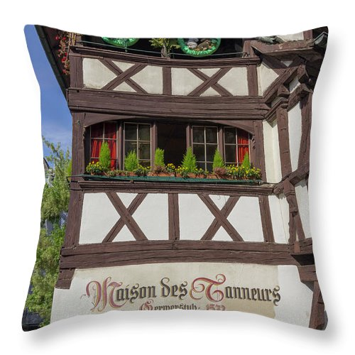 Alsace Throw Pillow featuring the photograph Easter At Maison Des Tanneurs by Teresa Mucha