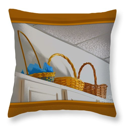 Easter Throw Pillow featuring the photograph Easter Baskets by Anita Goel