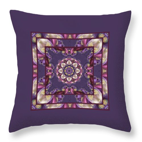 Kaleidoscope Throw Pillow featuring the digital art Easter Eggs by Charmaine Zoe
