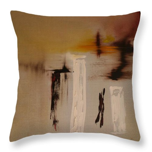Abstract Throw Pillow featuring the painting Easy by Jack Diamond