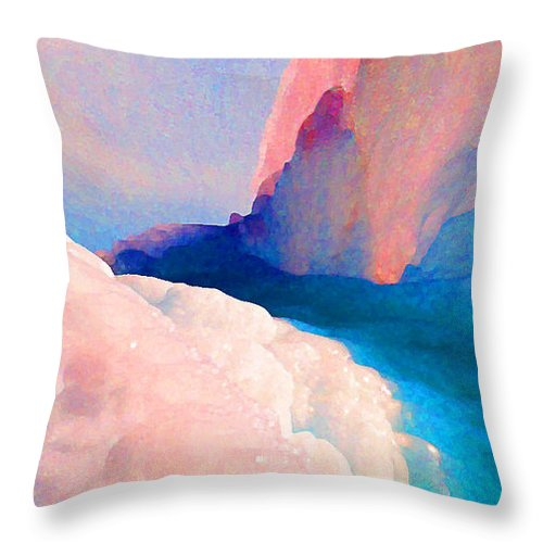 Abstract Throw Pillow featuring the photograph Ebb and Flow by Steve Karol