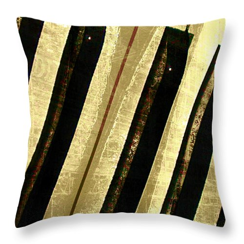 Piano Keys Throw Pillow featuring the digital art Ebony And Ivory by Ken Walker