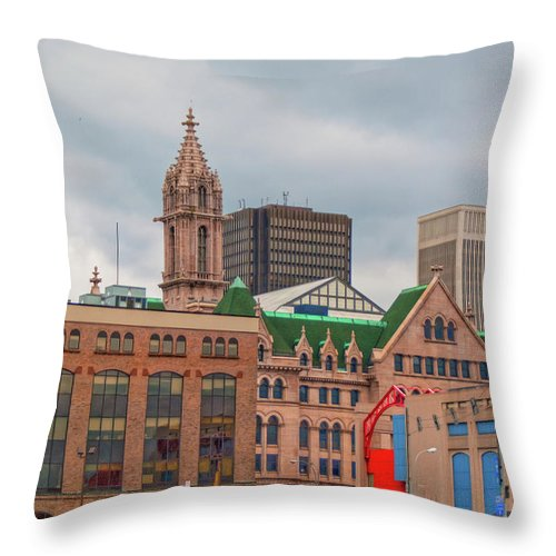 Buildings Throw Pillow featuring the photograph Ecc 15214 by Guy Whiteley