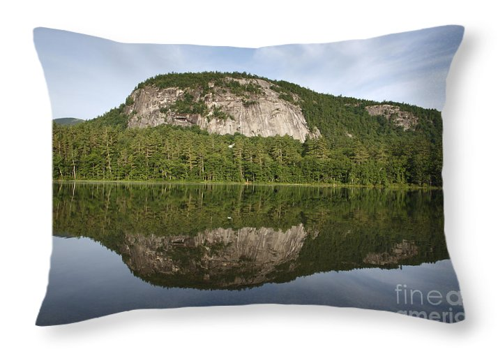 White Mountains Throw Pillow featuring the photograph Echo Lake State Park - North Conway New Hampshire Usa by Erin Paul Donovan