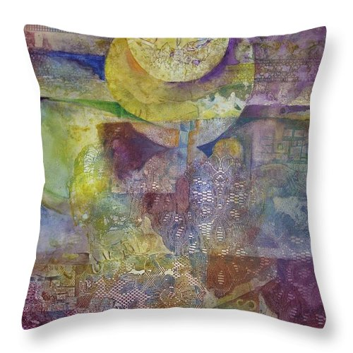 Abstract Throw Pillow featuring the painting Eclipse by Marlene Gremillion
