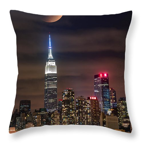 Skyscraper Throw Pillow featuring the photograph Eclipse by Mihai Andritoiu
