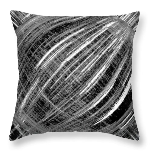 Black & White Throw Pillow featuring the digital art Economic Bubble by Will Borden