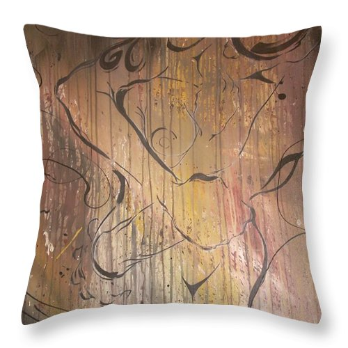 Ecstacy Throw Pillow featuring the painting Ecstacy by Hasaan Kirkland