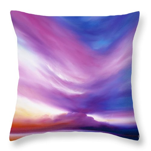 Clouds Throw Pillow featuring the painting Ecstacy by James Christopher Hill