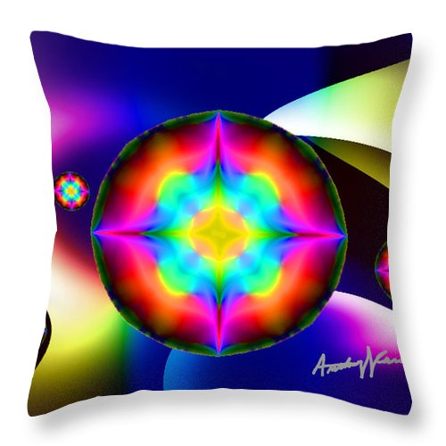 Curves Throw Pillow featuring the digital art Ectopia by Anthony Caruso