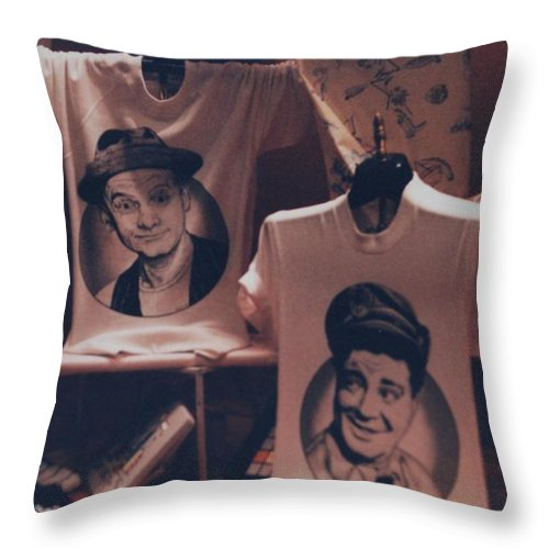 The Honeymooners Throw Pillow featuring the photograph Ed And Ralphie Boy by Rob Hans