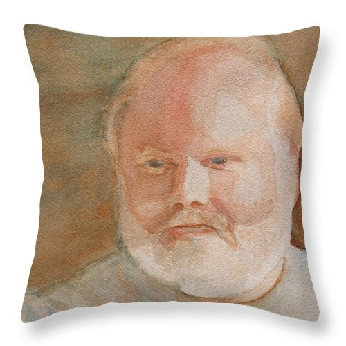 Man Throw Pillow featuring the painting Ed Turns Forty by Jenny Armitage