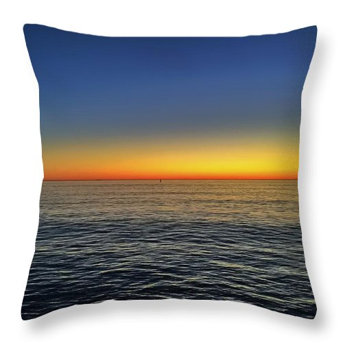 Ocean Throw Pillow featuring the photograph Edge Of Day by Michael Krugman