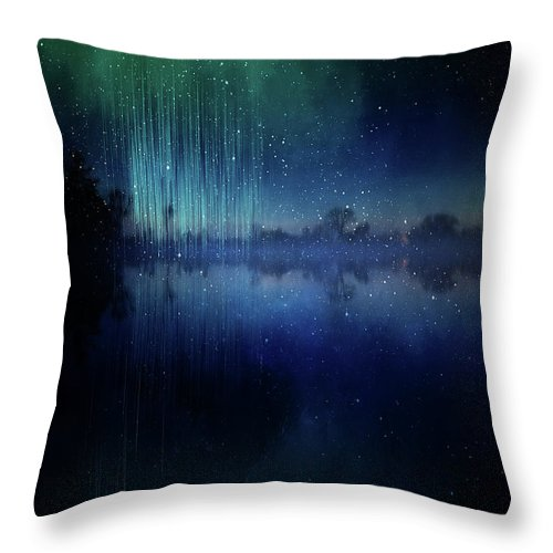 Lake Throw Pillow featuring the painting Edge Of Reality by Christina VanGinkel