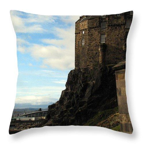 Castle Throw Pillow featuring the photograph Edinburgh Castle by Amanda Barcon
