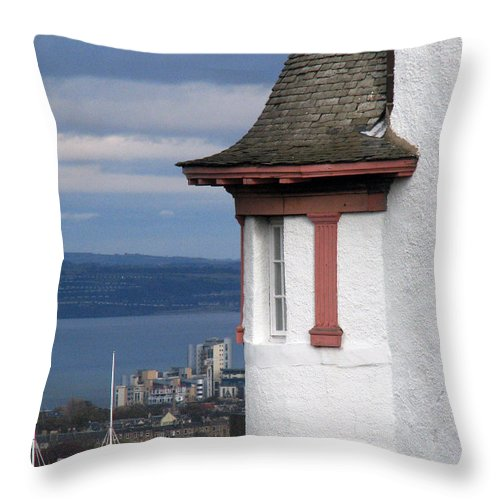 Scotland Throw Pillow featuring the digital art Edinburgh Scotland by Amanda Barcon