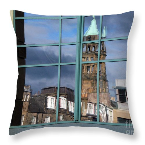 Reflection Throw Pillow featuring the photograph Edinburgh Self Interpreted by Amanda Barcon