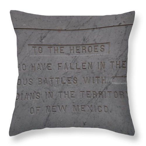 Marble Throw Pillow featuring the photograph Edited Deleted History by Rob Hans