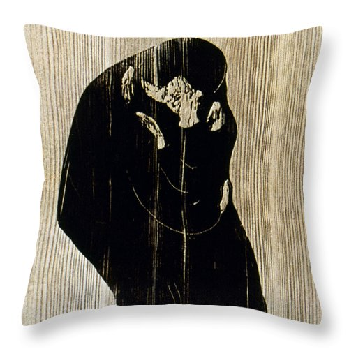 1897 Throw Pillow featuring the photograph Edvard Munch: The Kiss by Granger