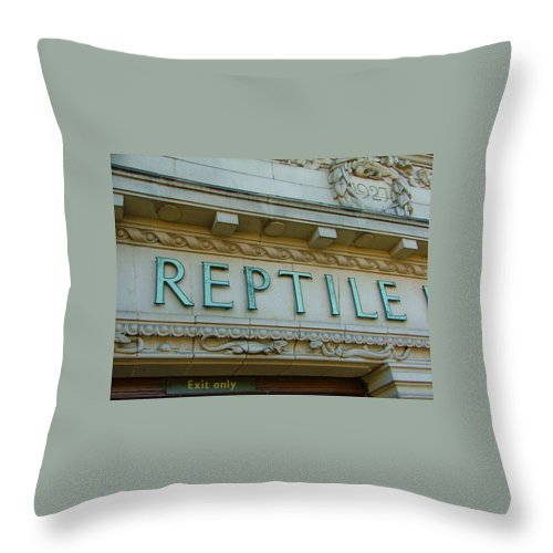 Reptile Throw Pillow featuring the photograph Edwardian Reptile House by Heather Lennox