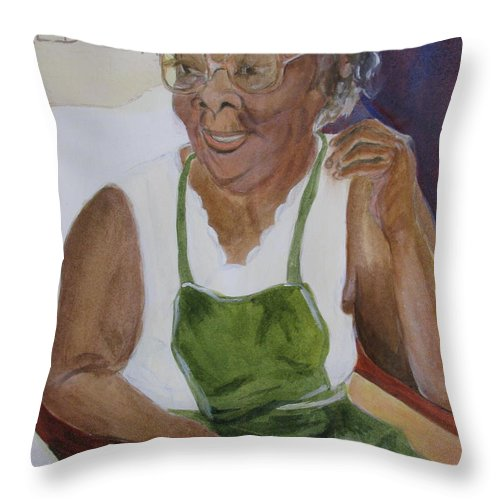 Bahamas Throw Pillow featuring the greeting card Edweena by Donna Steward
