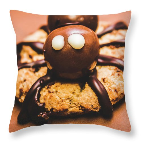 Bake Throw Pillow featuring the photograph Eerie Monsters. Halloween Baking Treat by Jorgo Photography - Wall Art Gallery