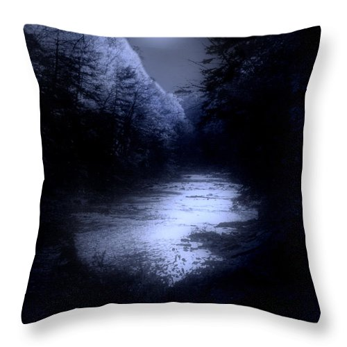 Moon Throw Pillow featuring the photograph Eerie Tranquility by Kenneth Krolikowski