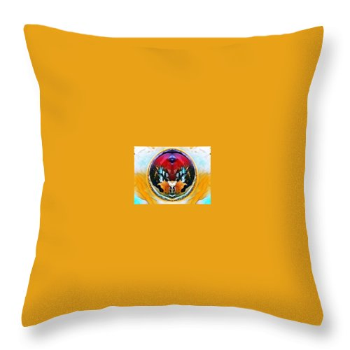 Fro Cam Throw Pillow featuring the digital art Eggosita by Nader