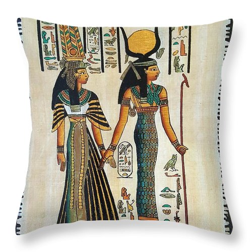Temple Of Horus Throw Pillow featuring the photograph Egyptian Papyrus by Rob Hans